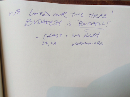 budapest guest book
